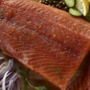 Bourbon-Glazed Cold Smoked Salmon